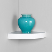 InPlace Shelving 30cm Floating Corner Wood Wall Shelf, White