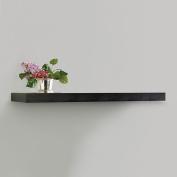 InPlace Shelving Floating Wood Wall Shelf, Black