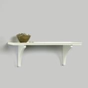 InPlace Shelving Mission Shelf with Bracket, White
