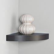 InPlace Shelving 30cm Floating Corner Wood Wall Shelf, Espresso