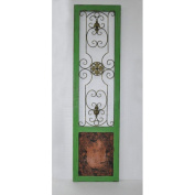 Cheungs Wooden Frame Door Panel with Wire Work in Centre