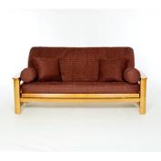 Lifestyle Covers Claret Box Cushion Futon Slipcover