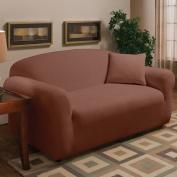 Madison Home Stretch Microfleece Box Cushion Loveseat Slipcover