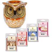 ScentSationals Wax Warmer Starter Set, Spotted Owl