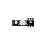 Great American Products GAP-CZWM2017 PItsburgh Steelers NFL Stainless Steel Can Holder with Hi-Def Metallic Graphics