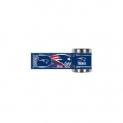 Great American Products GAP-CZWM2018 New England Patriots NFL Stainless Steel Can Holder with Hi-Def Metallic Graphics