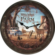 River's Edge Products 38cm Rusty Metal Clock
