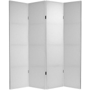 Oriental Furniture 1.8m Tall Do It Yourself Canvas Room Divider - 4 Panels