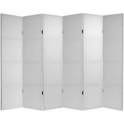 Oriental Furniture 1.8m Tall Do It Yourself Canvas Room Divider - 6 Panel