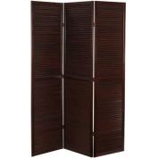 Oriental Furniture 180cm x 120cm Double Venetian 3 Panel Room Divider