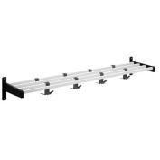 Magnuson Group Hook Style Coat Rack with Aluminium Shelf Bars