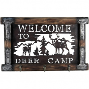 River's Edge Products Welcome To Deer Camp Coat Rack