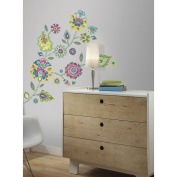 RoomMates Boho Floral Peel and Stick Giant Wall Decals
