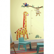Giraffe Peel and Stick Metric Growth Chart Wall Decals