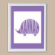 Personalised Hedge Hog Baby Name Print, 28cm x 36cm
