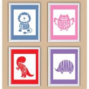 Personalised Lion Baby Name Print, 28cm x 36cm