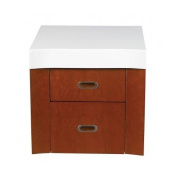 DecoLav 5605-4 46cm Casaya Double Drawer with Top for use with 5605-1 Vanity
