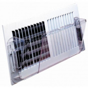 Frost King Vents 10cm - 0.3cm . x 25cm - 0.3cm . Plastic Sidewall Heat and Air Deflector HD9