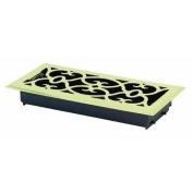 Greystone Home Products AMFRPBV412 Floor Register-4X12 PBRASS FLR REGISTER
