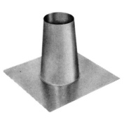Metalbest 4VP-TF VP 10cm Type L Pellet Pipe Tall Cone Flashing for Flat Roofs