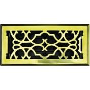 Greystone Home Products ASFRSBV410 Floor Register-4X10 PBRASS FLR REGISTER