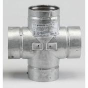 Metalbest 3VP-TD VP 7.6cm Type L Pellet Pipe Double Tee with Cap