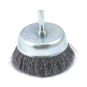 Forney 60006 Cup Brush Fine Crimped Wire with 0.6cm Shank 6.4cm