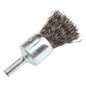 Forney 72265 End Brush Crimped Wire with 0.6cm Shank 1.9cm -by-.50cm