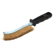 Forney 70516 Wire Scratch Brush Brass with Plastic Handle 13cm