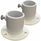 Swim Time Aluminium Deck Flanges for Above-Ground Pool Ladder, Pair