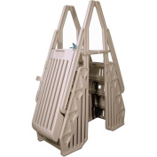 Vinyl Works Neptune A-Frame Entry System for Above-Ground Pools in Taupe