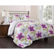 East End Living Dream Garden 3-Piece Bedding Comforter Set, Purple