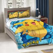 Pokemon Big Pika Twin/Full Bedding Comforter Set - Comes with Comforter and 2 Shams