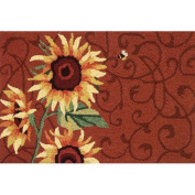 Homefires Sunflower and Bee Rug