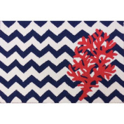 Homefires Chevron and Coral Rug