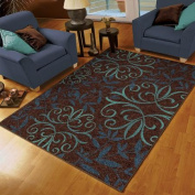Orian Voyager Area Rug, Blue, 1.5m x 2.1m