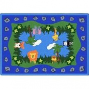 Joy Rugs Jungle Peeps Machine Tufted - Cut Pile Multi 1.5m x 2.1m - Area Rug
