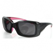Bobster Eyewear BAVA601 Ava Convertible, Blk-Pink Frame, Breast Cancer