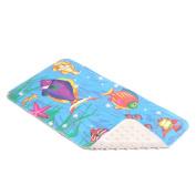 Con-Tact Brand Printed Rubber Bath Mat, Sea Fishes, 80cm x 41cm