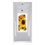 No Slip Mat by Versatraction 14 x 27 Sunflowers Bath Mat