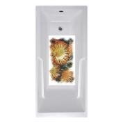 No Slip Mat by Versatraction 14 x 27 Yellow Flowers Bath Mat
