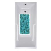 No Slip Mat by Versatraction 14 x 27 Blue Texture Bath Mat