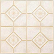Winton Tile 842138 Floor Tile No Wax Self Stick 30cm X 30cm Almond-Sand