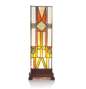 River of Goods Stained Glass Mission Style Hurricane 36cm Accent Lamp