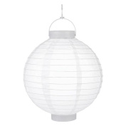 LumaBase Luminarias Battery-Operated Paper Lanterns, 20cm , 3-Count