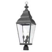 Outdoor Post Lantern in Charcoal Finish