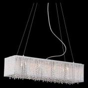 Bromi Design Crystalline 8 Light Crystals Chandelier