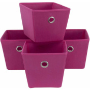 Mainstays Non-Woven Bins, 4-Pack, Multiple Colours