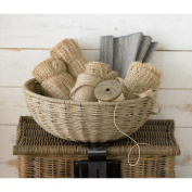 St. Croix Kindwer Woven Jute Rope Basket with Iron Frame