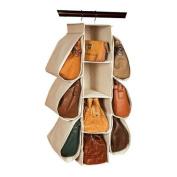 Richards Homewares Nature of Storage Canvas Natural Hanging Handbag Organiser